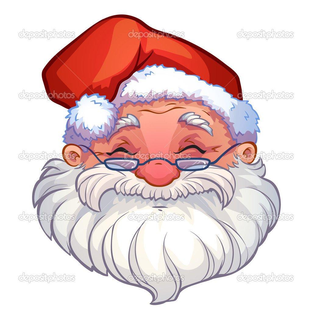 Rosto Sorridente De Papai Noel — Vetor De Stock © Yavi  32730893