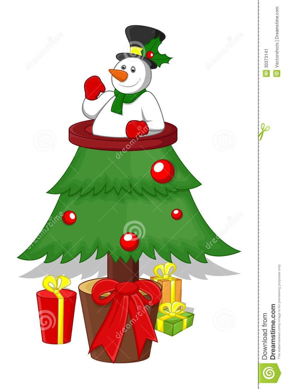 Árvore De Natal Dos Desenhos Animados Imagem De Stock