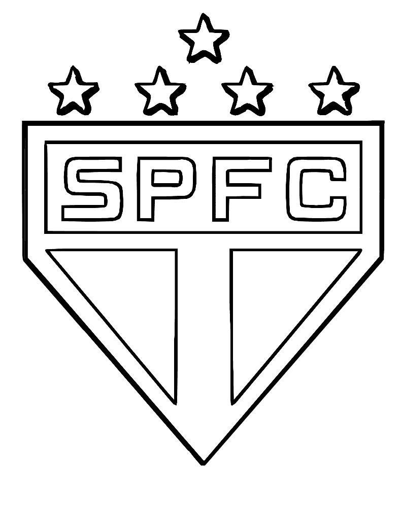 São Paulo Futebol Clube – Desenho Para Imprimir Colorir E Pintar