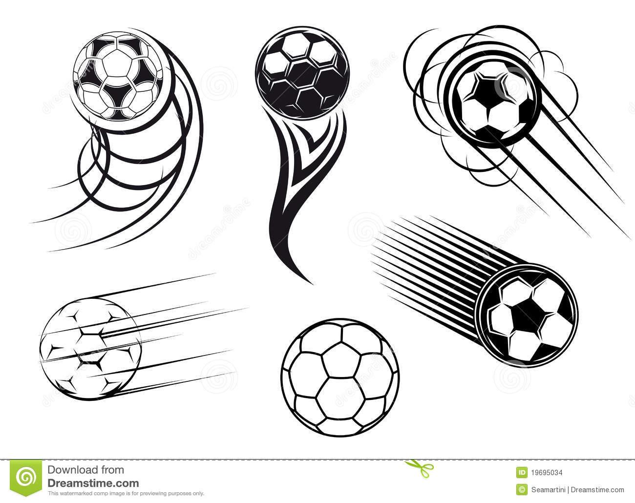 Símbolos Do Futebol E Do Futebol Imagens De Stock