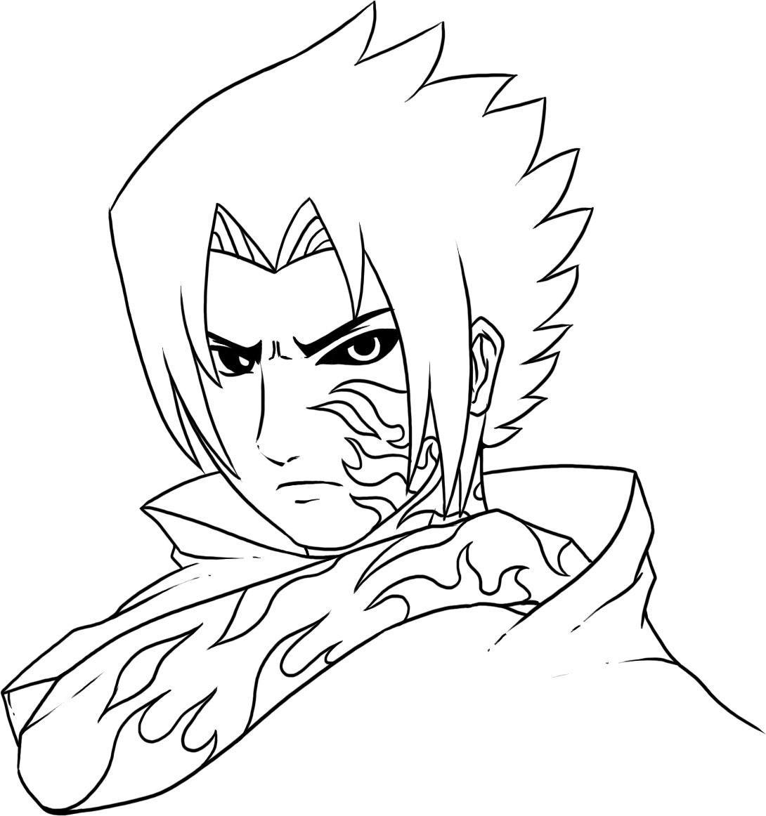 Sasuke Para Colorir Desenhos Sketch Coloring Page