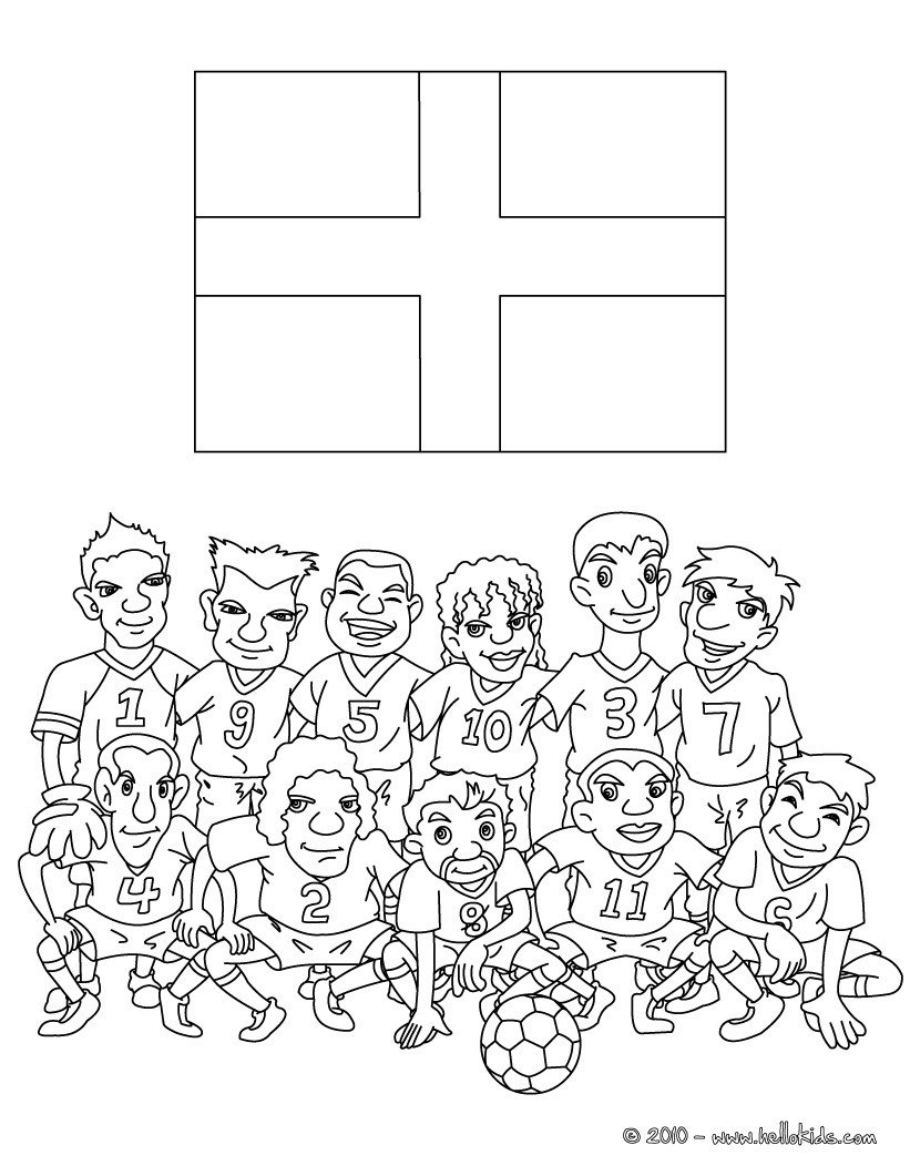 Soccer Teams Coloring Pages
