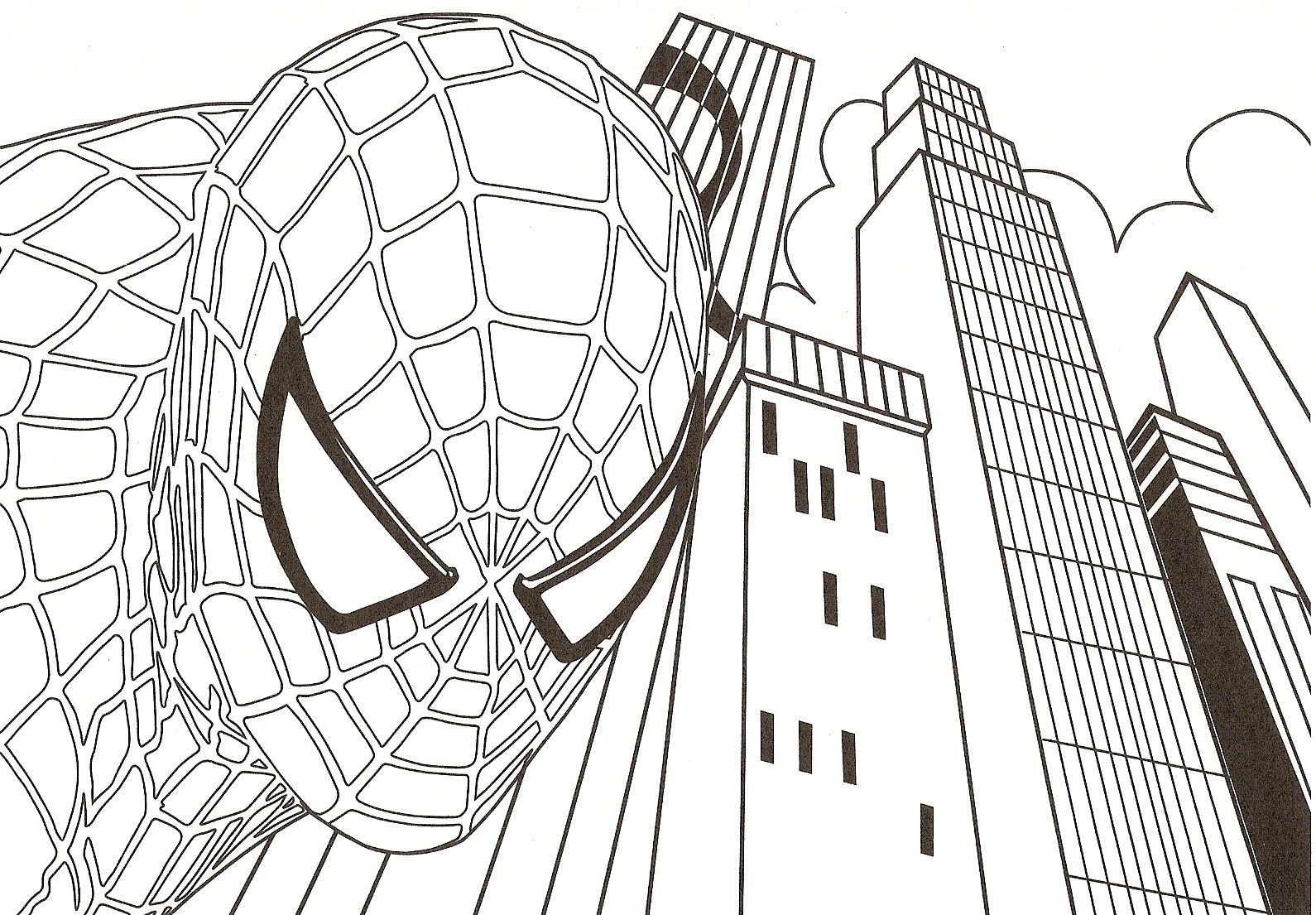 Spiderman Black And White Poster