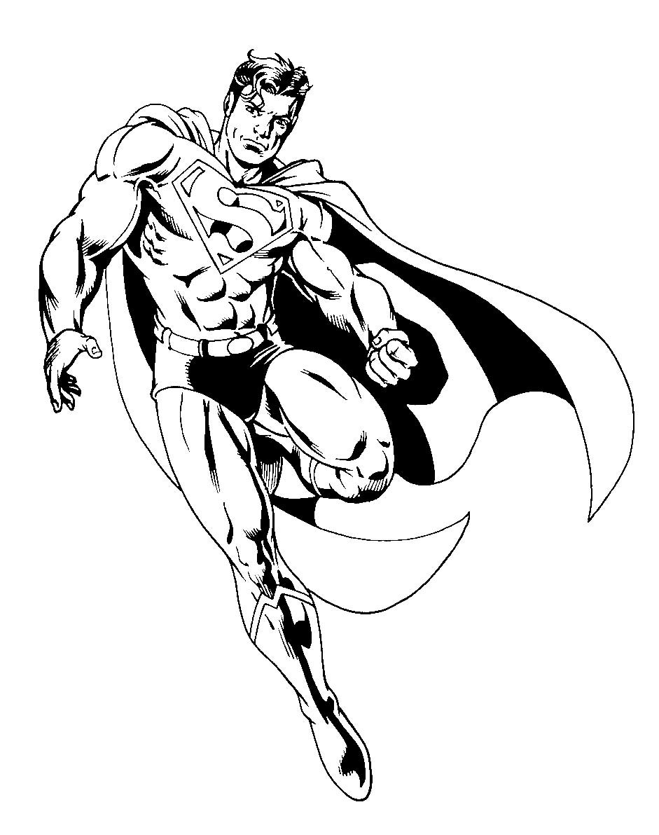 Superman Coloring Book Pages — Coloring Pages Ideas   Spend