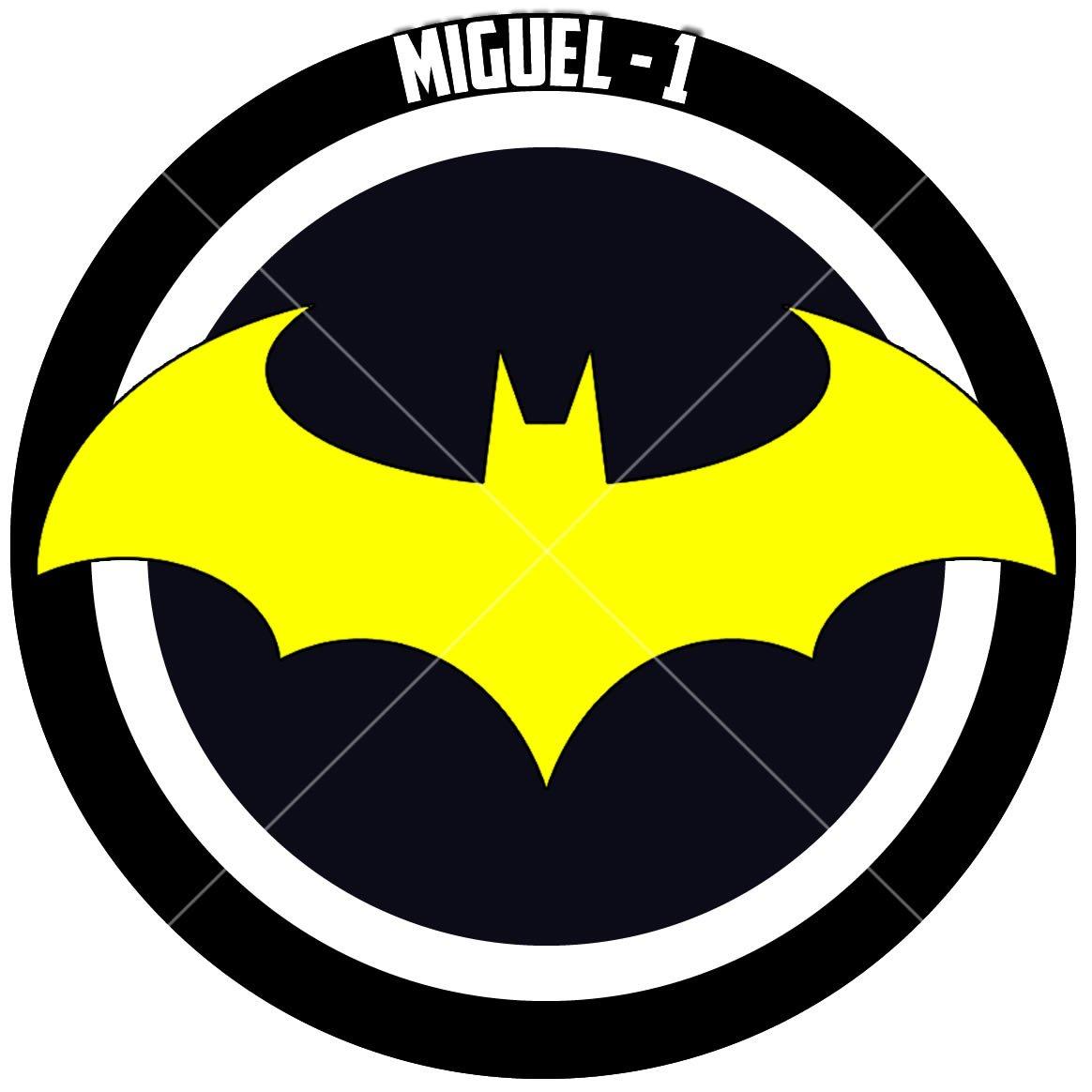 Tag Tubete Super Heróis 3,5cm Símbolo