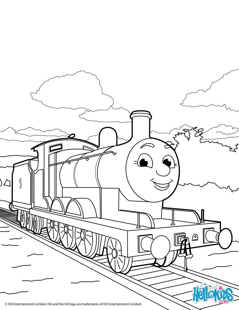 Thomas E Seus Amigos   3 Desenhos Para Colorir De Graça & Folhas