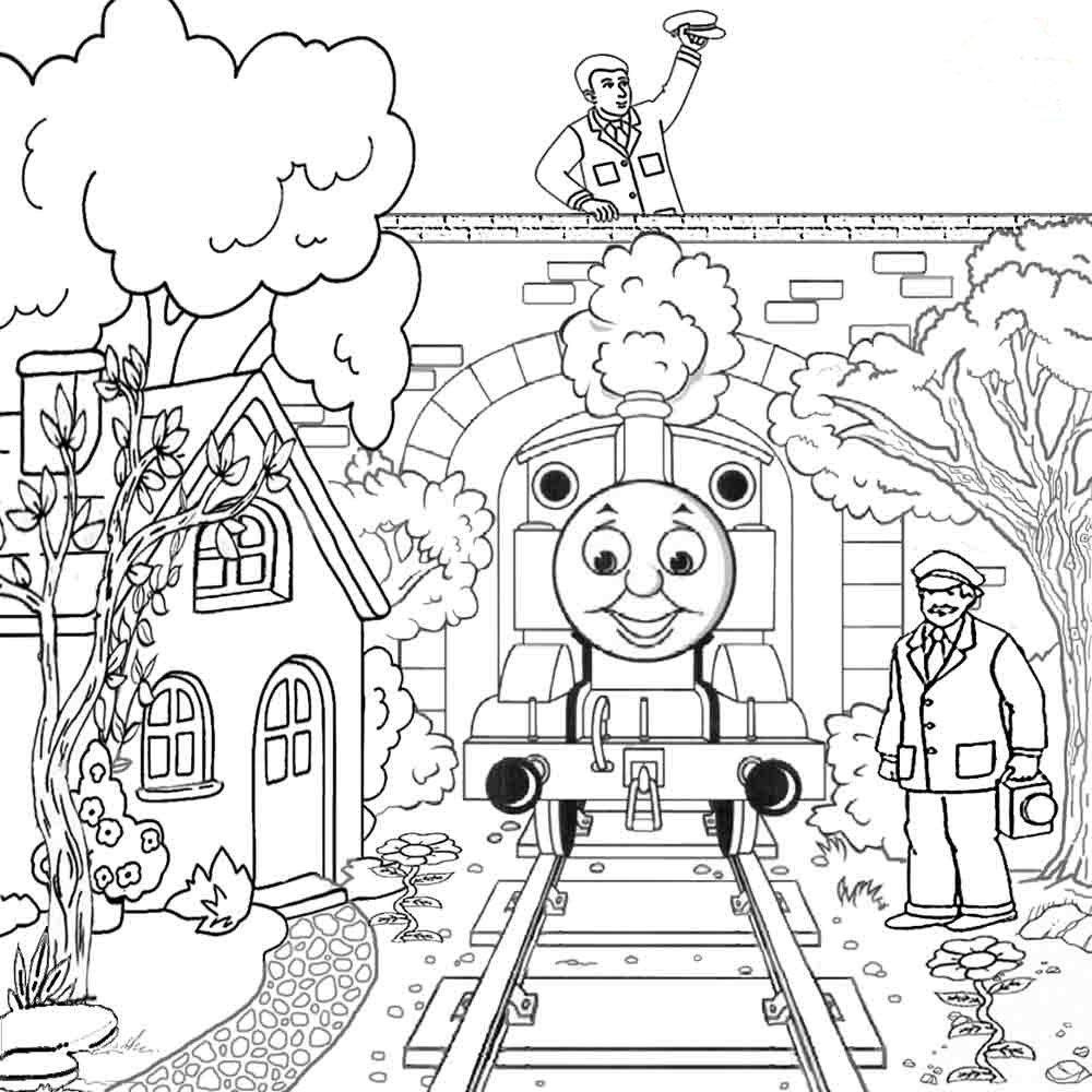 картинки для раскраски с томасом всегда можно понять