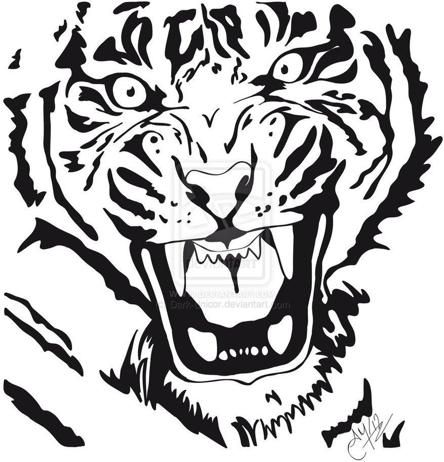 Tigre Para Colorir