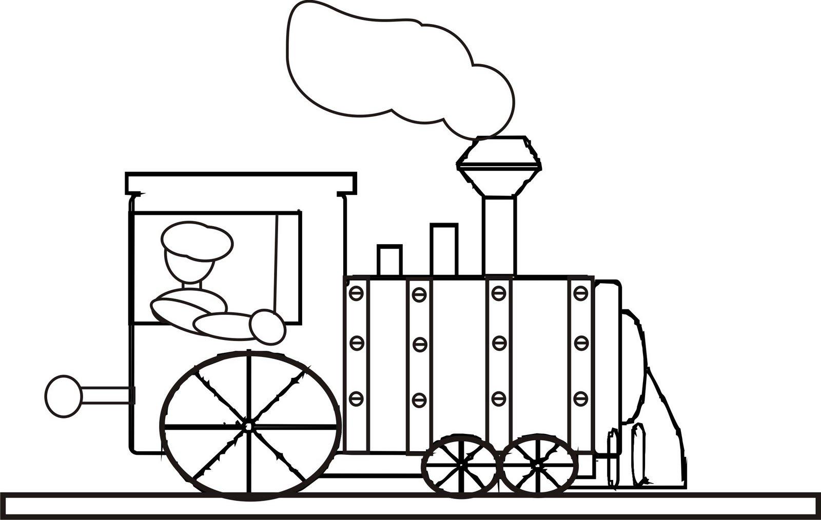 Trem Desenho Para Colorir Sketch Coloring Page