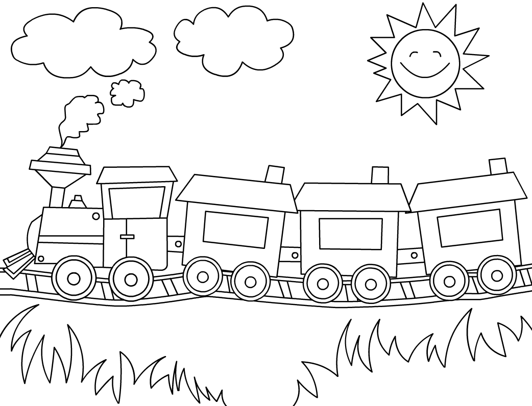 Trem Para Colorir
