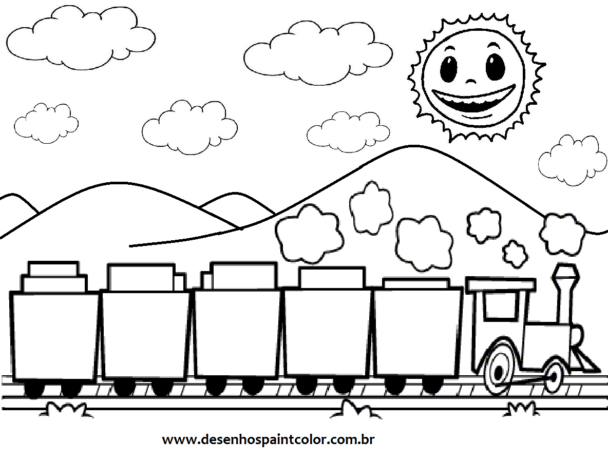 Trem Para Colorir Free Coloring Pages