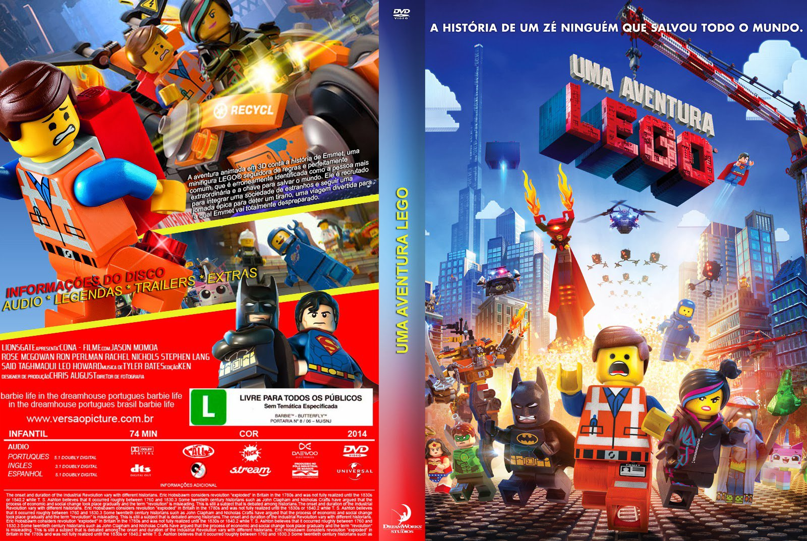 Uma Aventura Lego ~ Zica Top Capas