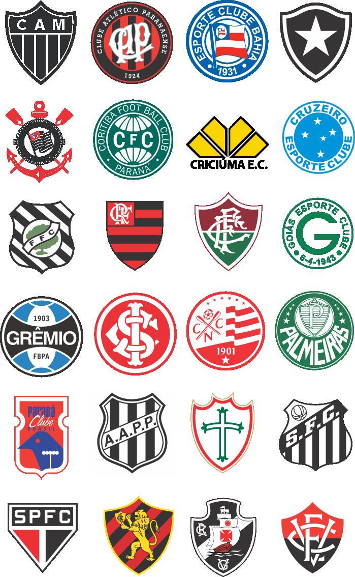 Valeu Cara  Escudos Vetorizados De 24 Times Do Brasileirão