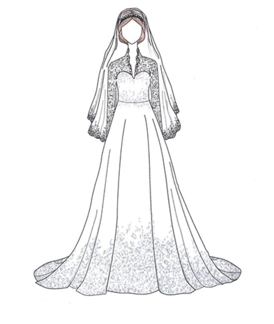 Veja Desenhos Dos Vestidos De Noiva Icônicos Das Famosas