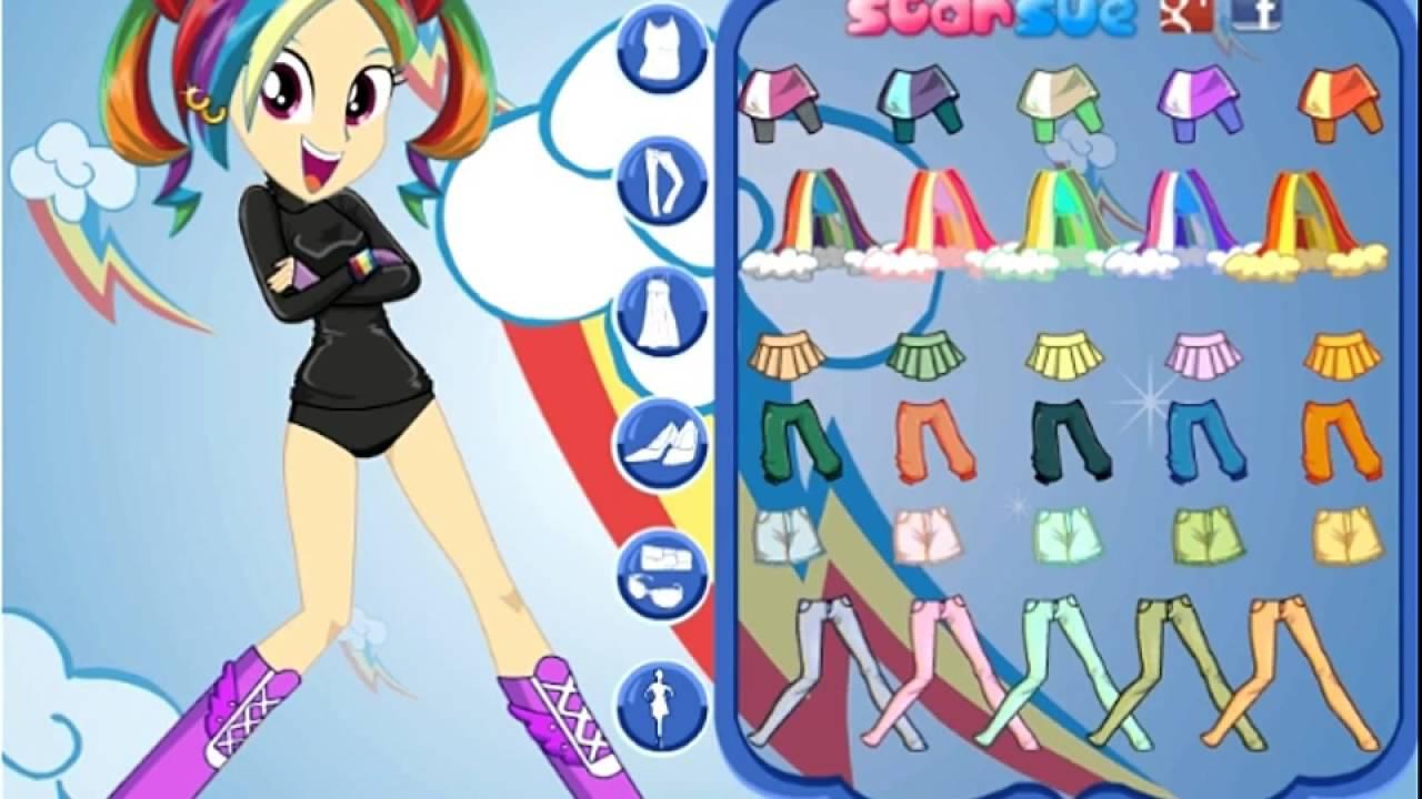 Vestir Miss Loyalty Rainbow Dash Jogos De My Little Pony