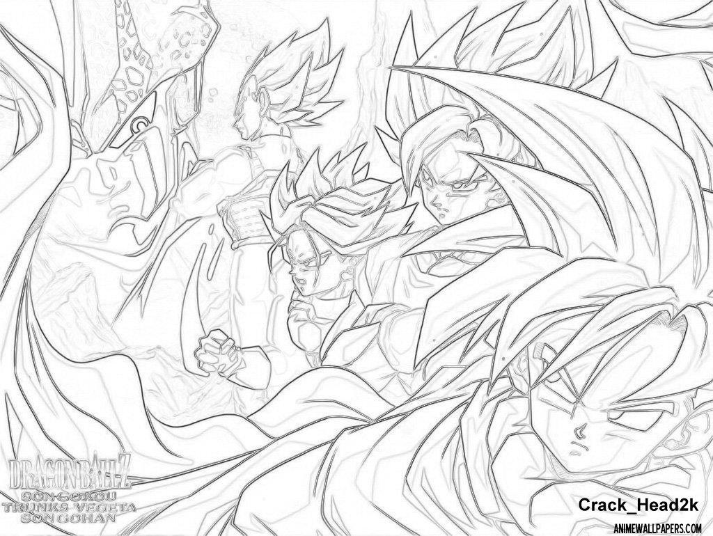 Wallpapers Dragon Ball Z Do Desenhos Para Colorir Imagixs 1024x770