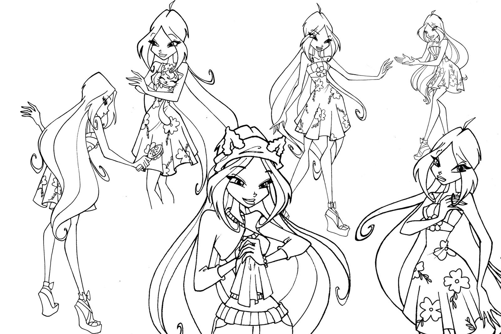 Winx Para Colorir Sketch Coloring Page