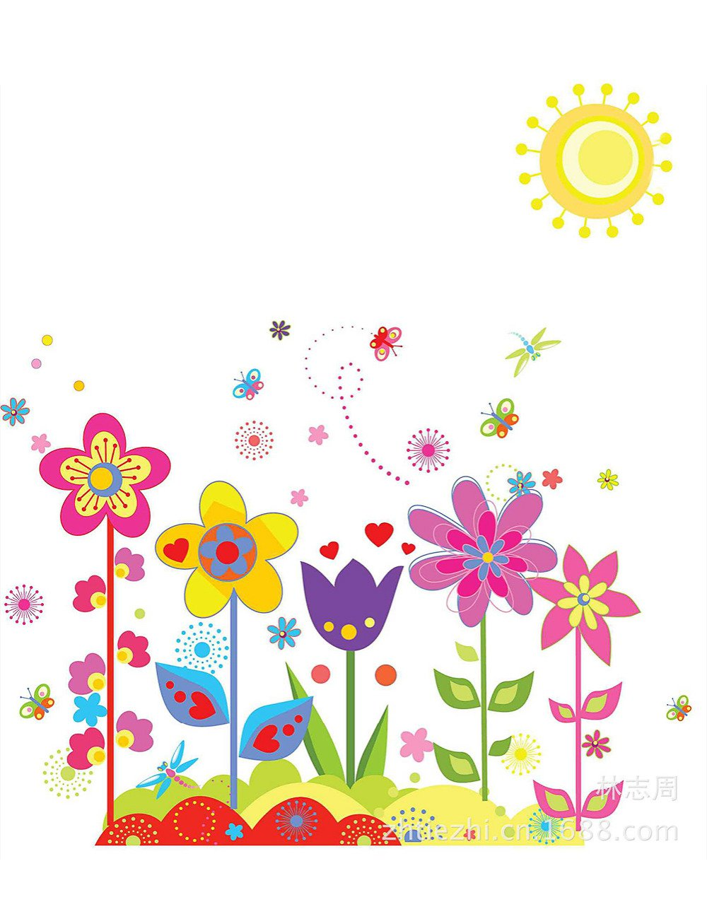 Aliexpress Com   Buy Flower And Flower Removable Wall Stickers For