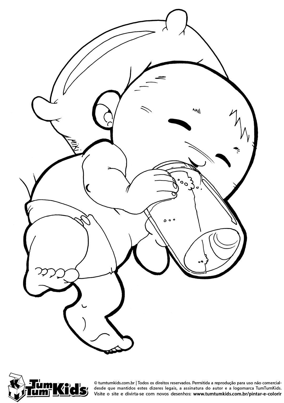 Bebê Tomando Mamadeira