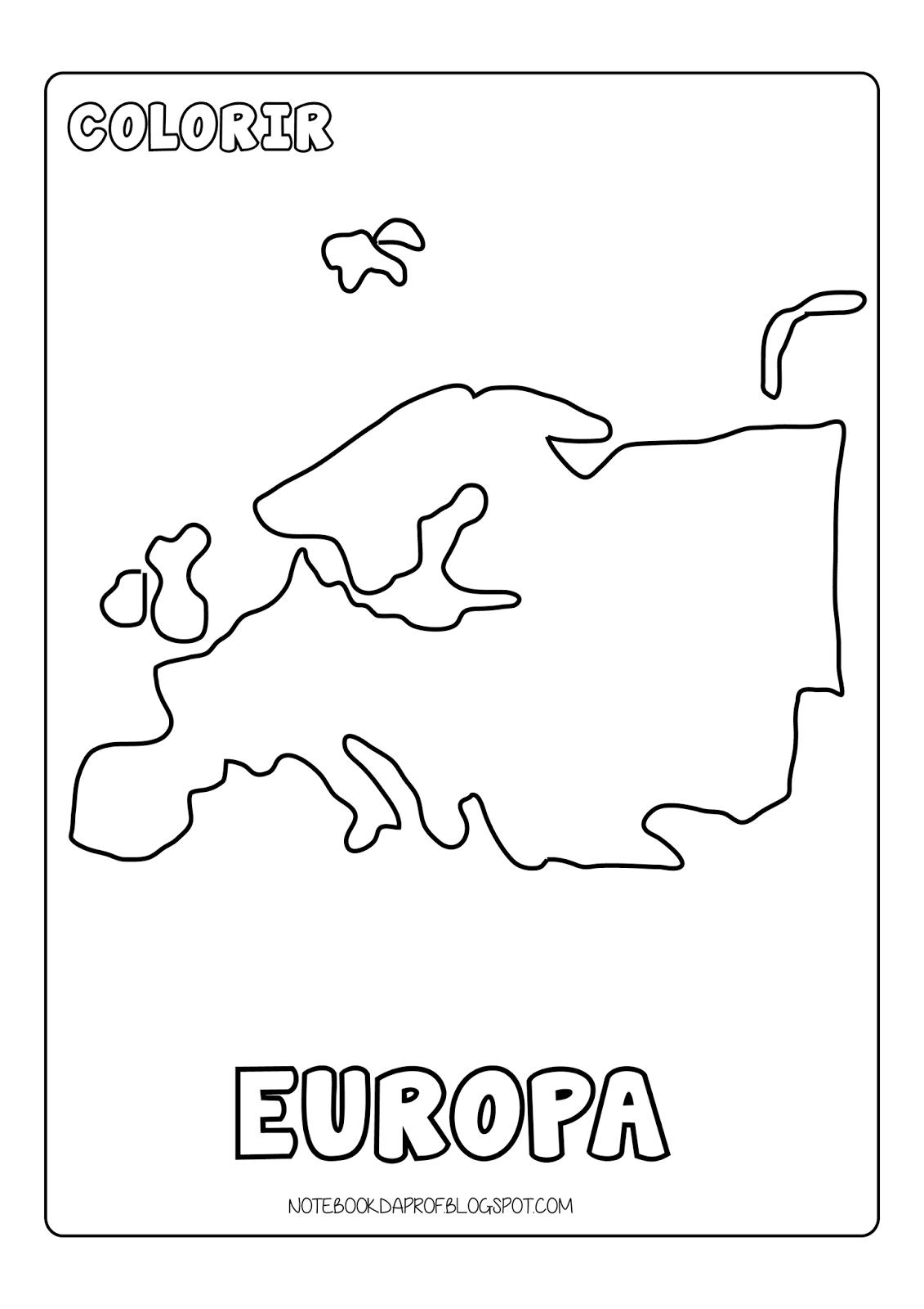 Colorir Continentes Poster