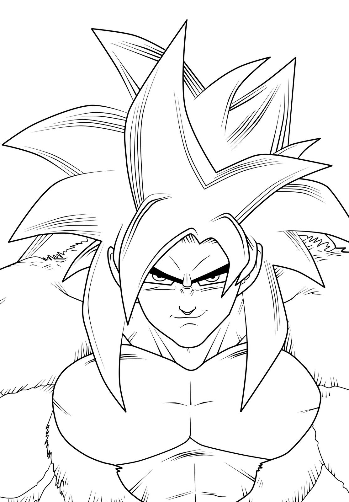 Colorir Desenhos Dragon Ball Goku