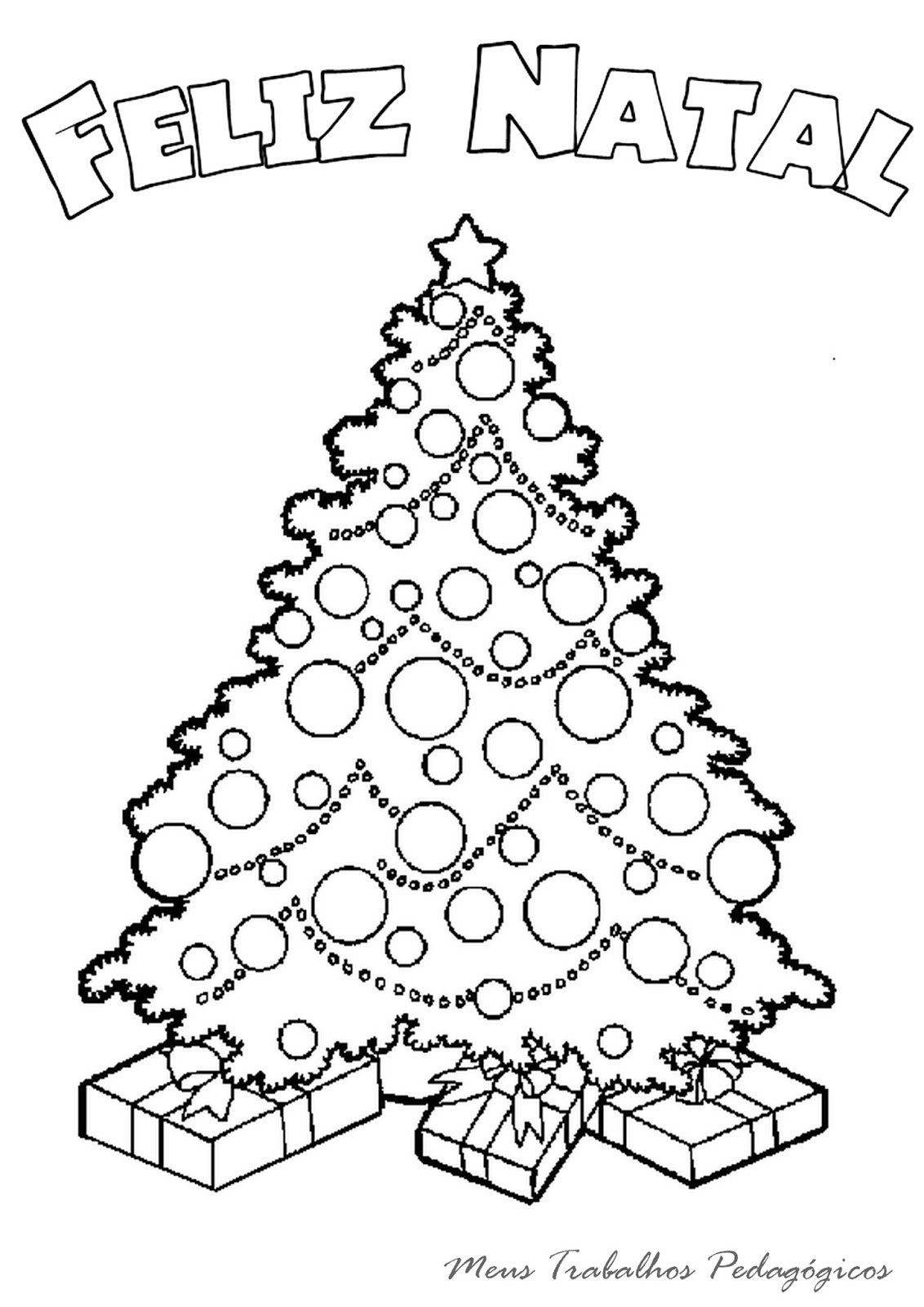 Desenho De Arvore De Natal