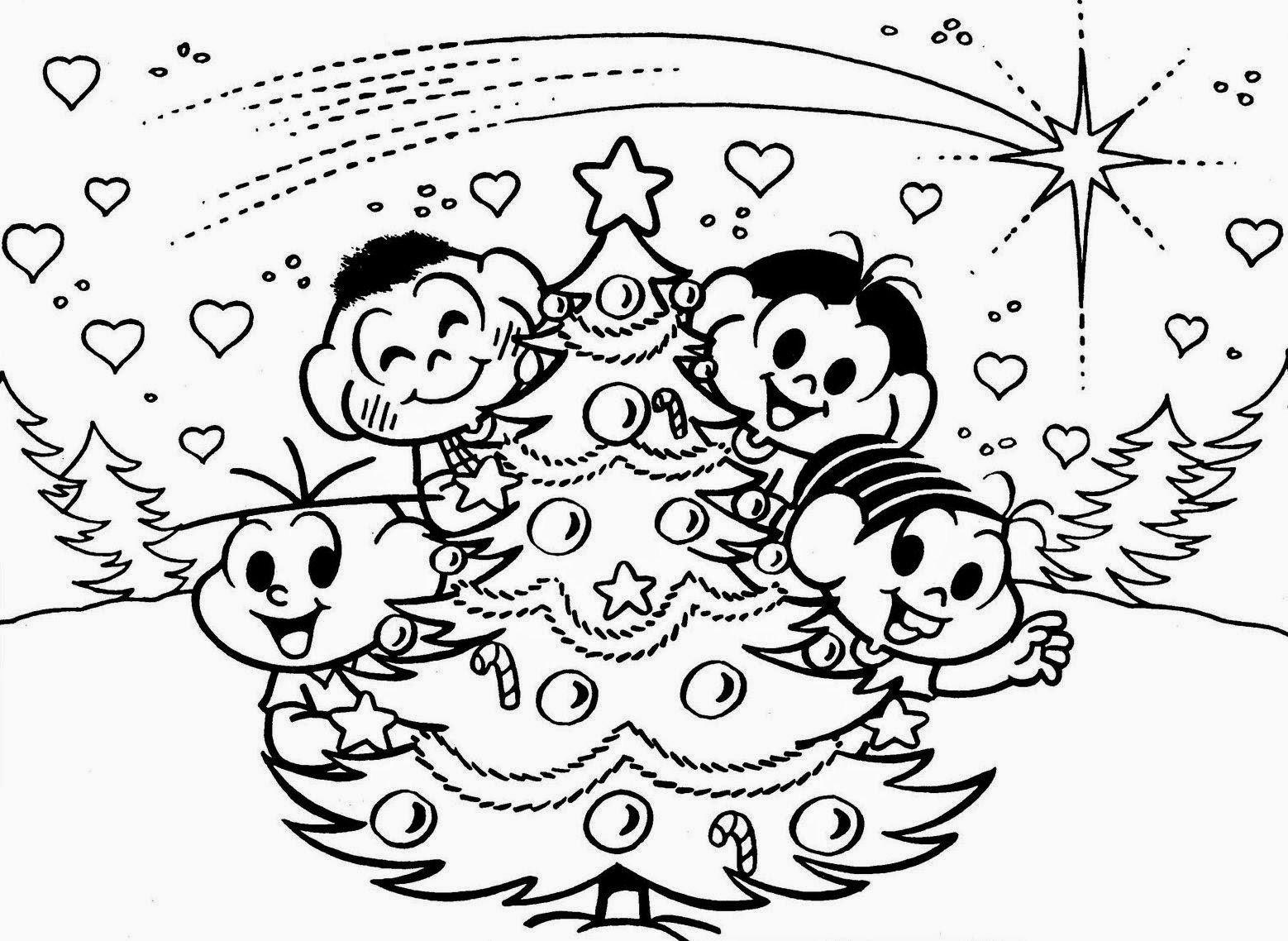 Desenhos De Árvore De Natal Para Imprimir E Colorir