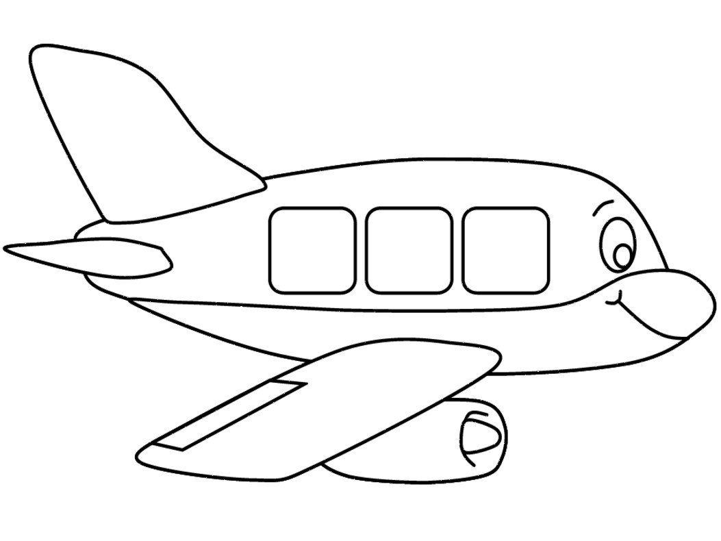 Desenhos De Aviões Para Colorir