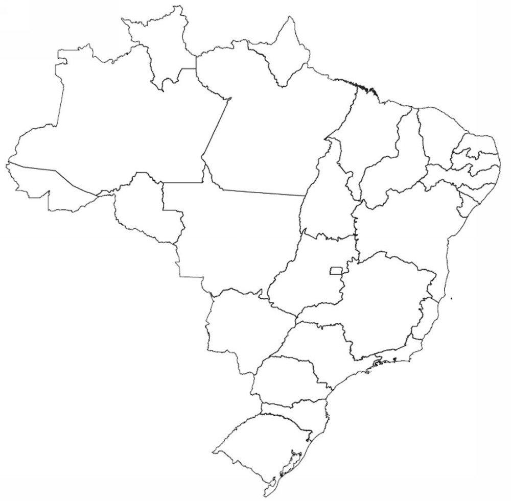 Mapa Do Brasil E Capitais