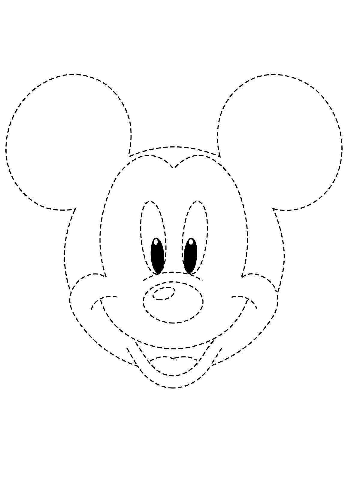 Mas é Lógico   Desenho Para Cobrir Mikey Mouse + Arquivo Word