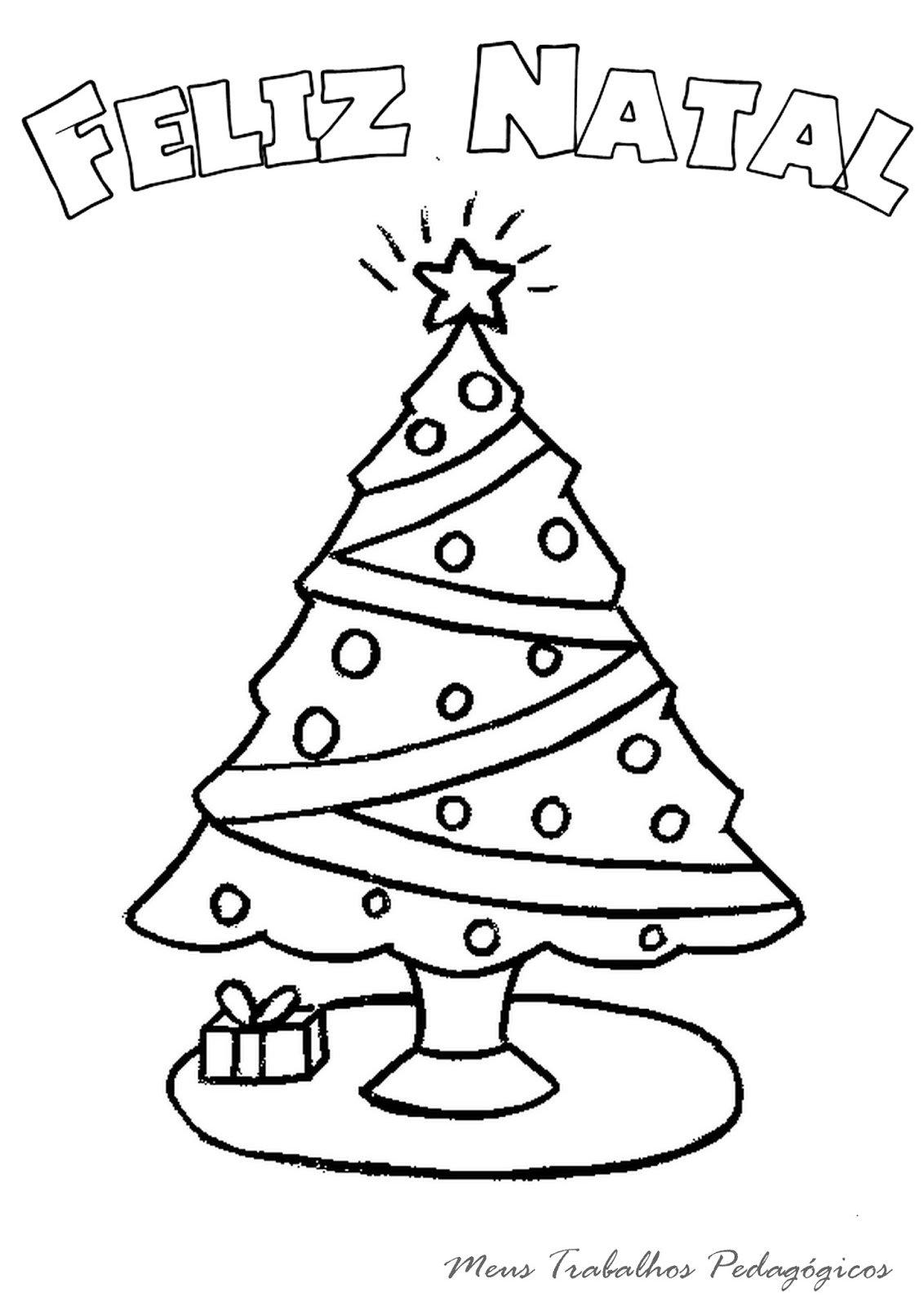Meus Trabalhos Pedagógicos ®  Desenhos De árvore De Natal Para Colorir
