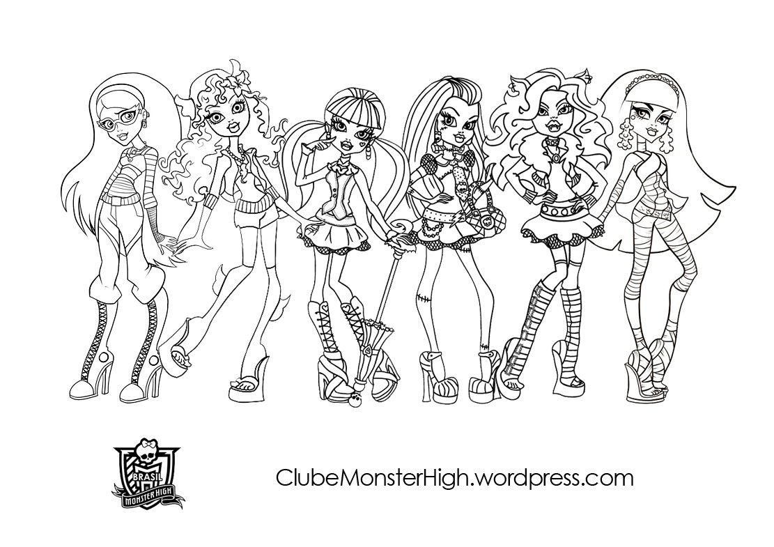 Monster High Para Colorir Sketch Coloring Page
