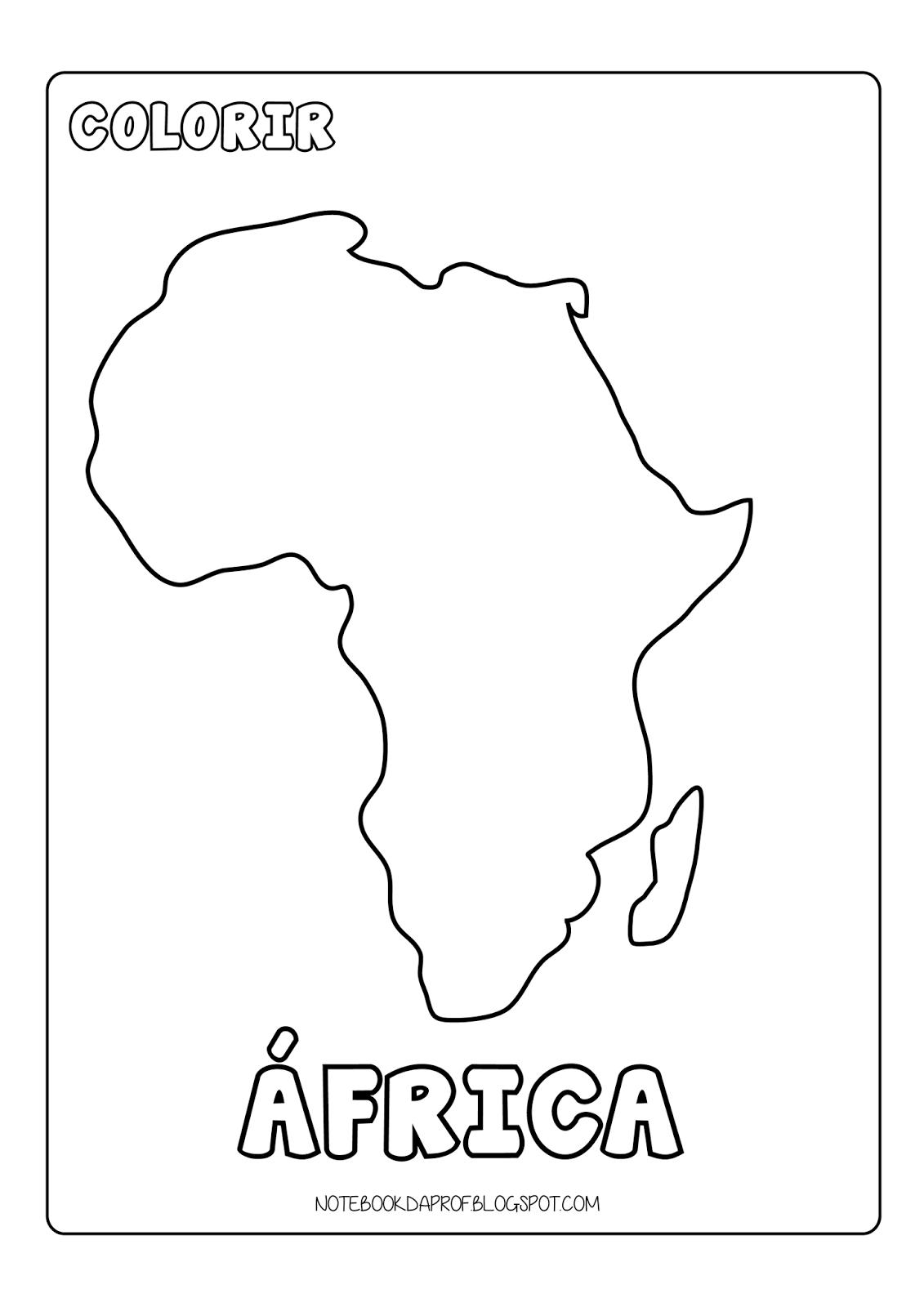 Notebook Da Profª  Colorir Continentes