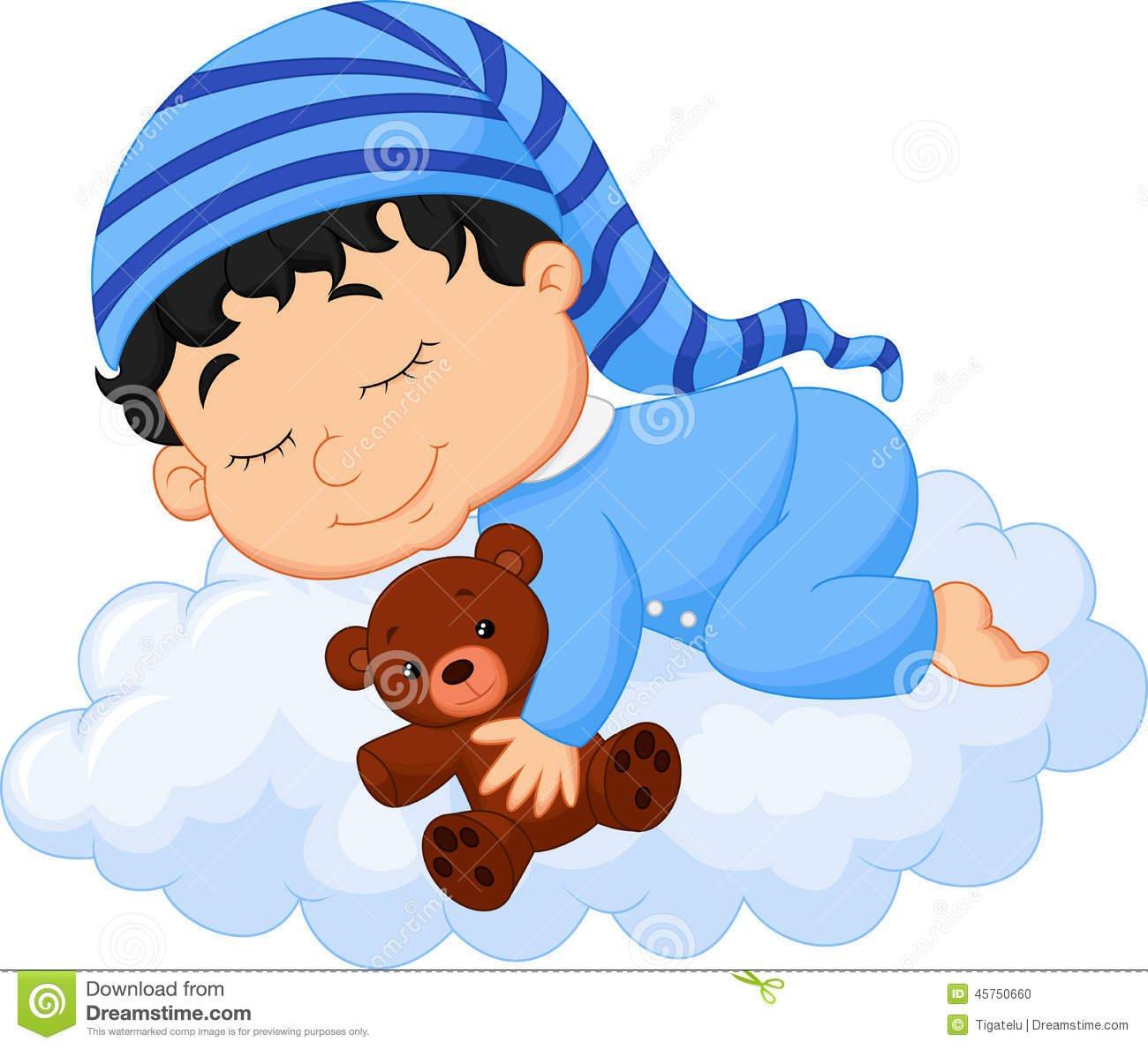 Nuvem Do Sono Dos Desenhos Animados Do Bebê Ilustração Do Vetor