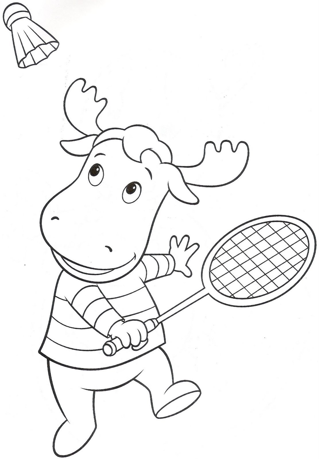 Backyardigans Coloring Pages cartoon reindeer pics coloring pages