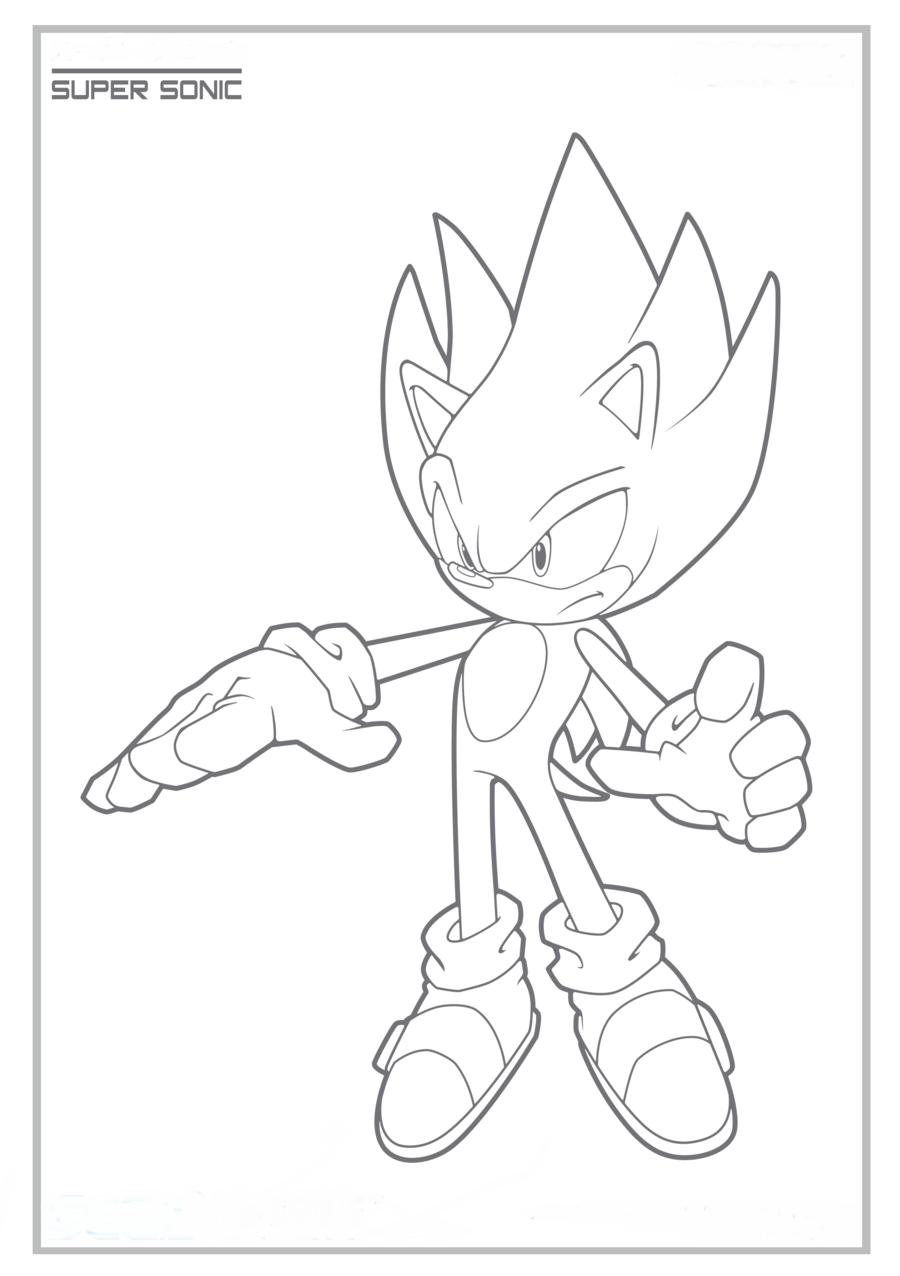 Sonic X Colorir